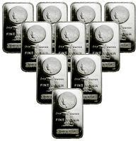 Lot of 10 - Morgan Dollar Design Bar 1 Oz .999 Silver Bars SKU29388