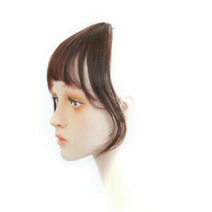 100% Real Human Hair Topper Toupee French Bangs Clip Hairpiece Wigs For Women