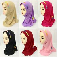 1 Piece Amira hijab underscarf hood Lycra NEW Girls Flowers