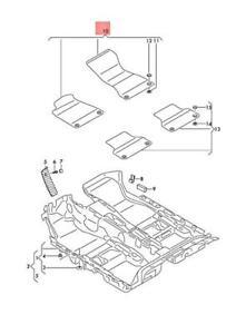 Genuine AUDI A4 Avant S4 1 Set Foot Mats Soul/Cedar Brown 8W1863691BKGB
