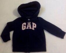 Baby Gap Hoodie Jacket Sz 6-12 Months Blue Sweatshirt Fleece Full Zip Hood