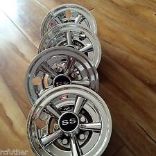 "Set of (4) SS 8"" Golf Cart 