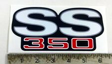 Vintage SS 350 Super Sport color sticker decal
