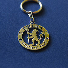 Stainless Steel Handmade Soccer Key Chain with Chelsea FC Crest Silver Color