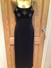 LADIES APPROX SIZE 8,TFNC,BLACK,SPARKLE,ANKLE LENGTH,STRETCH WIGGLE DRESS.