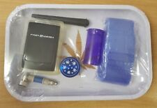 White Leaf Rolling Tray Gift Set Grinder Pipe Baggies Scales #1