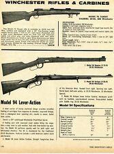 1975 Print Ad of Winchester Model 70 Target, 94 Regular & Antique Carbine Rifle