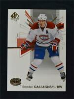 2016-17 SP Authentic #81 Brendan Gallagher - NM-MT