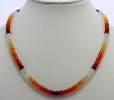 Ópalo de Fuego Cadena Piedra Preciosa, Exclusivo, Collar, Collar Naranja