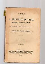vita di francesco sales vescovo e principe di ginevra  volume III°-sprmebventrqa