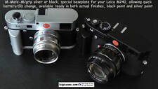 LUIGI M-MATE-M/grip,SD CARD+BATTERY.BASEPLATE LEICA M240/MMII,M246,BLACK/SILVER
