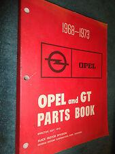 1968-1973 BUICK OPEL  & OPEL GT  PARTS CATALOG / ORIGINAL BOOK 69 70 71 72 73