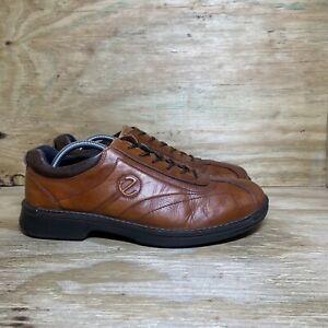Ecco Light Leather Shoes Men's size 11-11.5 / EU 45 Brown Shock Point