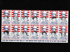 Opc Vintage Amvets War Orphans Disabled Veterans Sheet of 14 Mnh