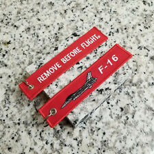 """F-16 """"Viper"""" Fighting Falcon Remove Before Flight ® Keychain, Tag, Streamer!"""