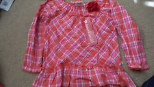 American Girl Pretty Plaid Top size Girls 4T - New with tags