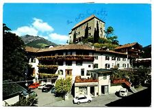 Merano Italy Vintage Postcard Old Castle Hotel Cars 1973 Posted