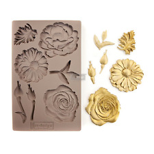 Prima Marketing Mould Silicone Mold IN THE GARDEN Food Safe Clay Candy Chocolate