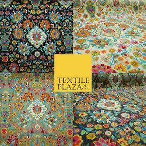 "Colourful African Kalamkari Batik Vintage Printed 100% Cotton Canvas Fabric 56"""