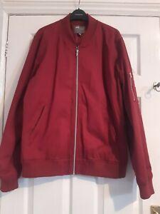Asos Bomber Mod Coat Red Large L