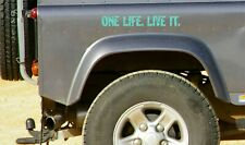 Mint 2 x ONE LIFE LIVE IT, STICKERS,  LAND ROVER, Camel Trophy, 4x4 Off Road,