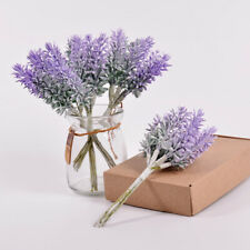 Artificial Flower Plastic Lavender Fake Plants Wedding Home Decor 1 Bundle