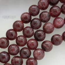 """15.5"""" Natural Red Strawberry Quartz Round Beads approx. 10mm #21173"""
