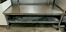 Stainless Steel 72 X 30 Six Foot Equipment Stand With Casters Boh 21 054