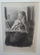 Maximilien Luce 1858-1941 Original pencil signed Femme se coiffant lithograph