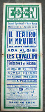 1920 MILANO MANIFESTO SPETTACOLO MARIONETTE DI M.me HORWARD E ALTRE ATTRAZIONI
