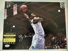Zion Williamson Duke Signed Autographed Big Poster Dunkin With COA