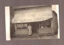 Vintage Nebraska RPPC FISCHER'S BAKERY LUNCH STORE PHOTO POSTCARD Woman antique