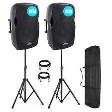 "Vonyx AP15A V3 15"" 1600W IPP Active DJ PA Club Speaker (Pair) PRO Kit"