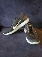 Nike Men Size 11.5 Lunarglide 9 Running Shoes Black/White-Grey 904715 001  Nice