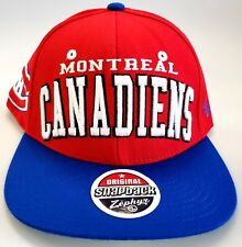NEW! NHL Montreal Canadiens Embroidered Adjustable Snap Back Cap