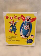 "2011 WARM FUZZY BOZO THE CLOWN 3-D FINGER BOP 7"" TALL SAND FILLED BASE"