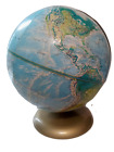 Vintage Rand McNally World Portrait Globe-Raised Relief-With Soviet Union-Used