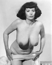 Vtg B&W 1950's Photo Girl Pinup Naughty Hangers Huge Tits Boobs Risque #921
