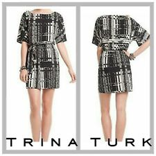 NWT $268 TRINA TURK Fall Fashion Nerissa Plaid Dolman Sleeve Lined Dress 4