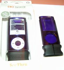 Speck SeeThru hard shell case for Apple iPod nano 4th Gen, Purple, NEW