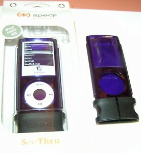 Speck SeeThru hard shell case for Apple iPod nano 4th Gen, Translucent Purple