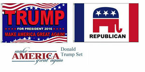3x5 Trump Make America Great Again! Republican Party Wholesale Flag Set 3'x5'
