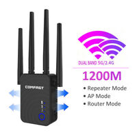 AC1200 WIFI Repeater 2.4G 5G 1200mbps Router & Wireless Range Extender 802.11ac