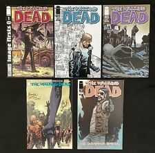 Walking Dead lot of 5 #1 (Reprint), #106-107, 129 signed (Image 2013) High Grade