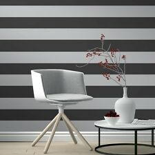 Black and Silver Stripe Wallpaper by Rasch Just Me Range 286922