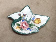 Vintage 1950's Ceramic Peacock Dish Made in Italy Rare