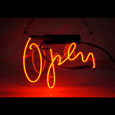 Open Sign Neon Light Store Display Beer Bar Sign Real Neon 7.9'X9.8' Tn13
