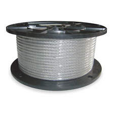 DAYTON  Cable Wire 3/8 Inch 150 FT 2880 lb. Capacity 1DLA6 Rigging Free Shipping