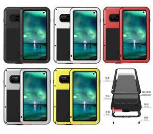 Shockproof Waterproof Gorilla Glass Metal Rugged Case Bumper For Samsung S10