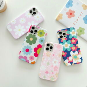 For iPhone 12 Pro Max 11 XS XR X 8 7 Plus Lovely Flower Printed Soft Case Cover